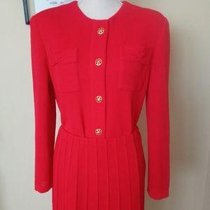 Vintage Castleberry London Knit Skirt Set Suite